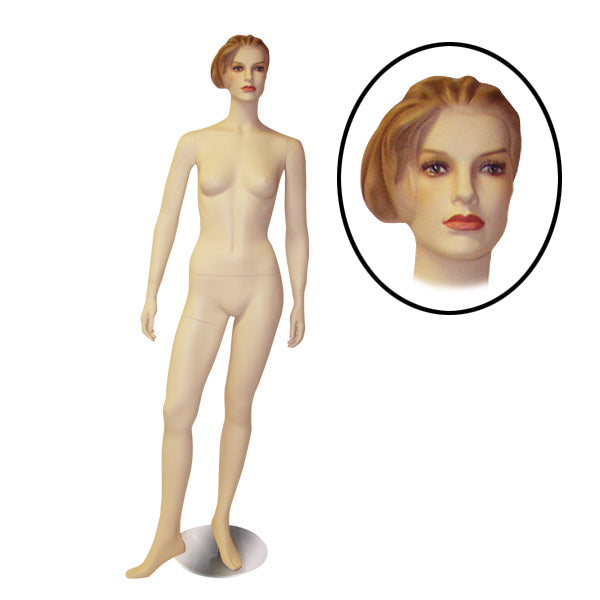Female Mannequin with Molded Hair