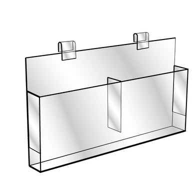 Gridwall Brochure Holder - Double