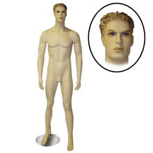Male Mannequin with Molded Hair