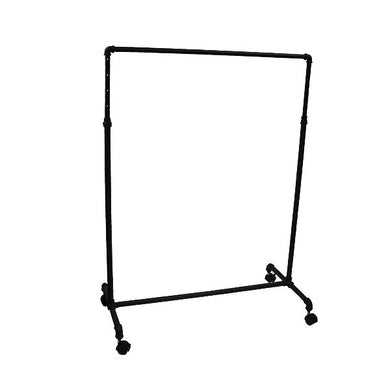 Pipe Style Single Rack- Black