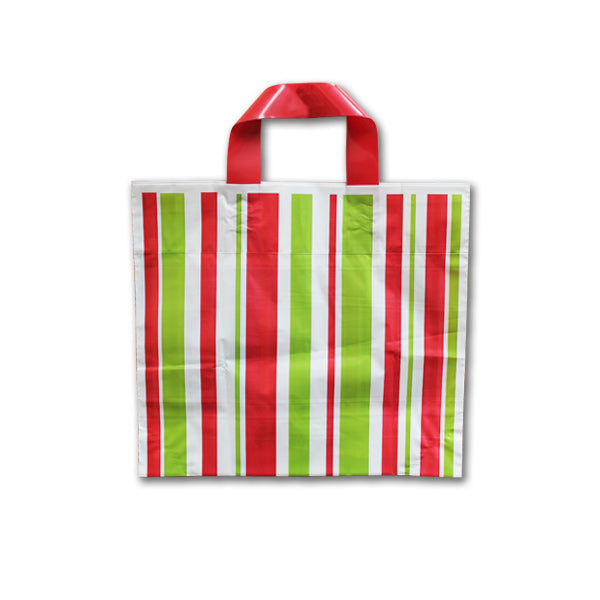 Plastic Holiday Shopping Bags - 12