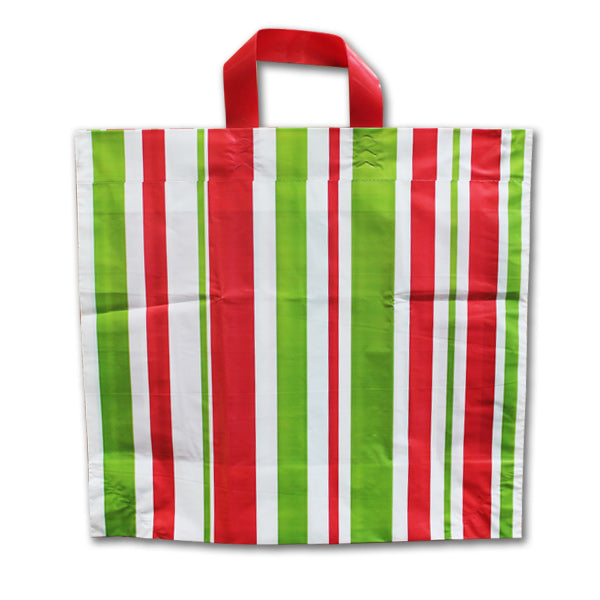 Plastic Holiday Shopping Bags - 16