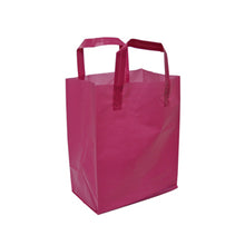 "Soft Loop Handle Frosted Bag - 8"" x 10"" x 5"""