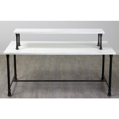 Table Riser - Distressed White