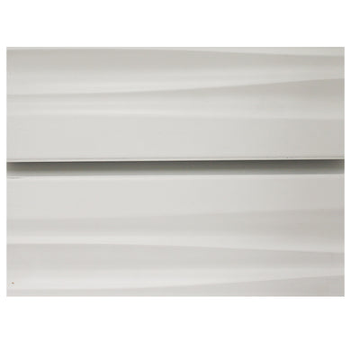 White Wave Slatwall with Metal Inserts