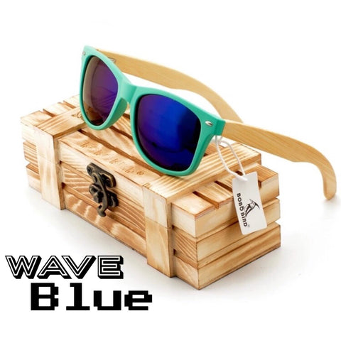 Polarized bamboo vintage sunglasses for men & women with orig wood gift box - 100% HANDMADE ECO FRIENDLY SHADES