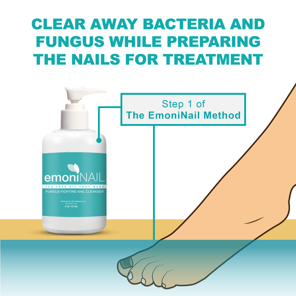 EmoniNail Tea Tree Oil Nail Wash Anti-Fungal Hand/Foot Cleanser