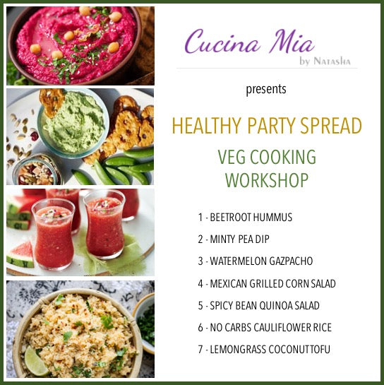 Healthy Party Spread (Veg) Cooking Workshop