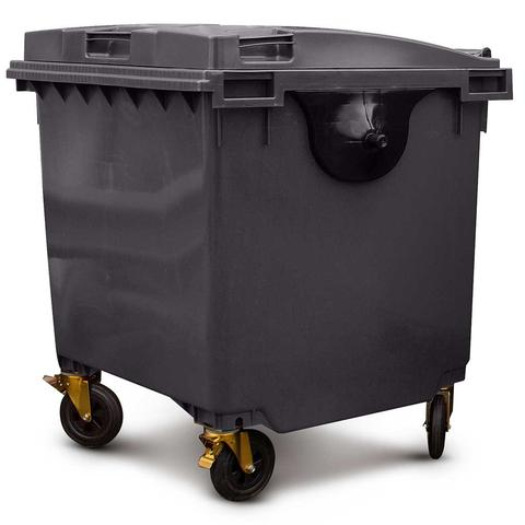 Black 1100 Litre Wheelie Bins