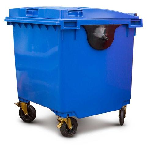 Blue 1100 Litre Wheelie Bins