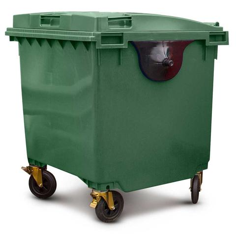 Green 1100 Litre Wheelie Bins