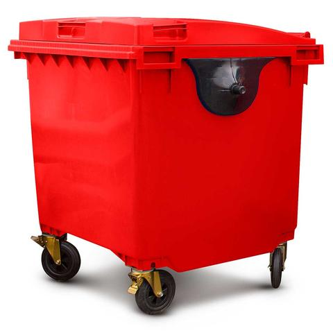 1100 Litre Wheelie Bin in Red