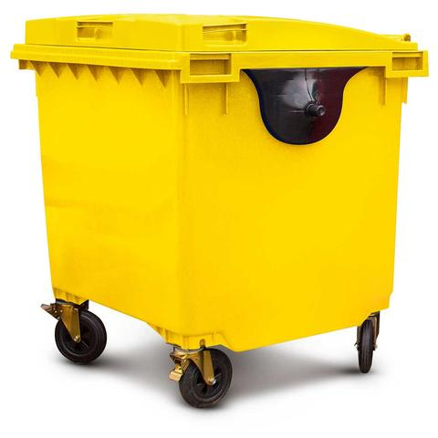 1100 Litre Wheelie Bin in Yellow