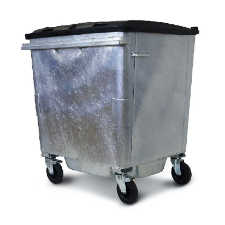 Galvanised Wheelie Bins