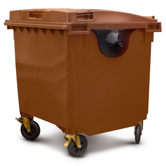 1100 Litre Wheelie Bin In Brown