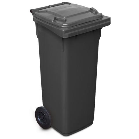 140 Litre Wheelie Bin In Black