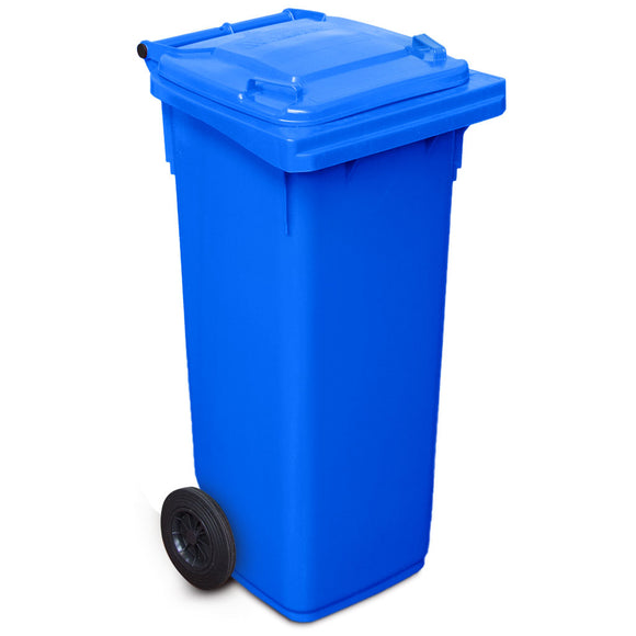 140 Litre Wheelie Bin In Blue