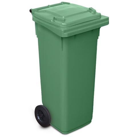 140 Litre Wheelie Bin In Green