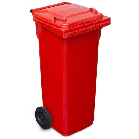 120 Litre Wheelie Bin In Red