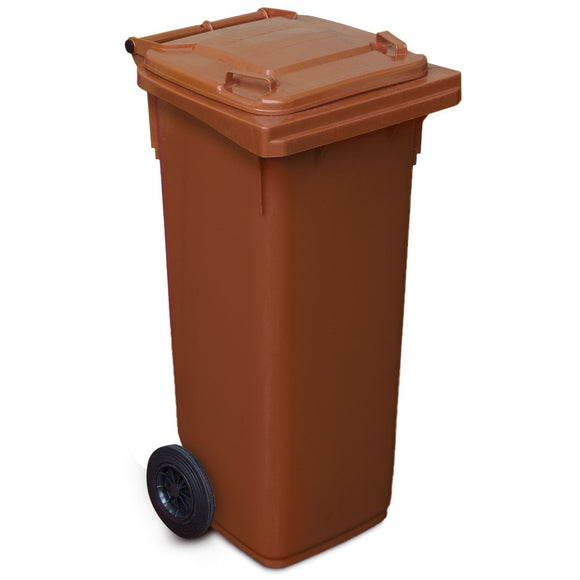 140 Litre Wheelie Bin In Brown