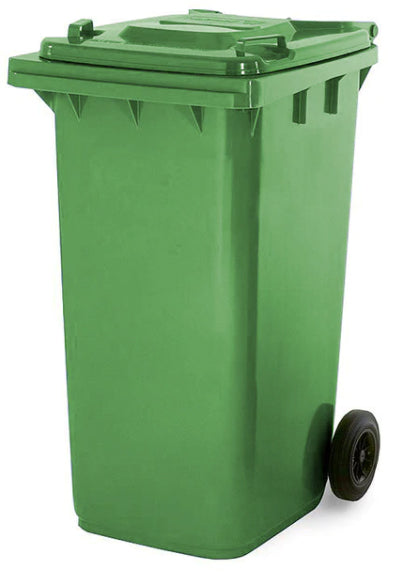 Green 180 Litre Wheelie Bins