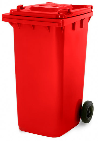 Red 180 Litre Wheelie Bins