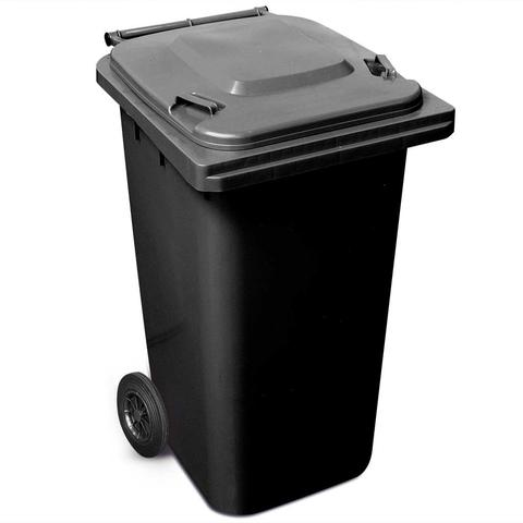 240 Litre Wheelie Bin In Black