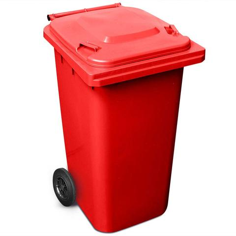 240 Litre Wheelie Bin In Red