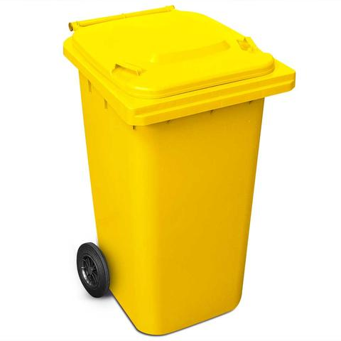 240 Litre Wheelie Bin In Yellow