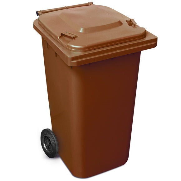 240 Litre Wheelie Bin In Brown