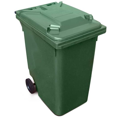 Green 360 Litre Wheelie Bins
