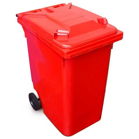 360 Litre Wheelie Bin In Red