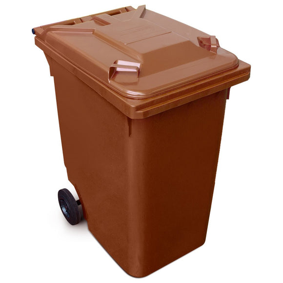 360 Litre Wheelie Bin In Brown