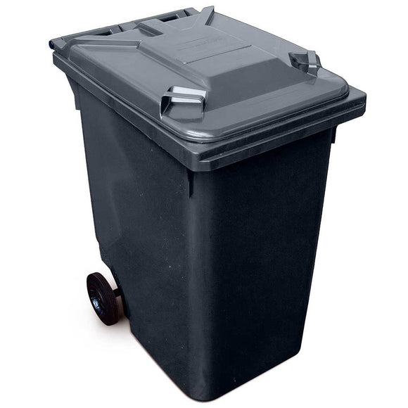 360 Litre Wheelie Bin In Black