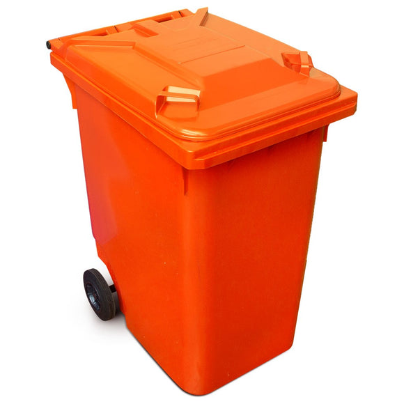 Orange 360 Litre Wheelie Bin