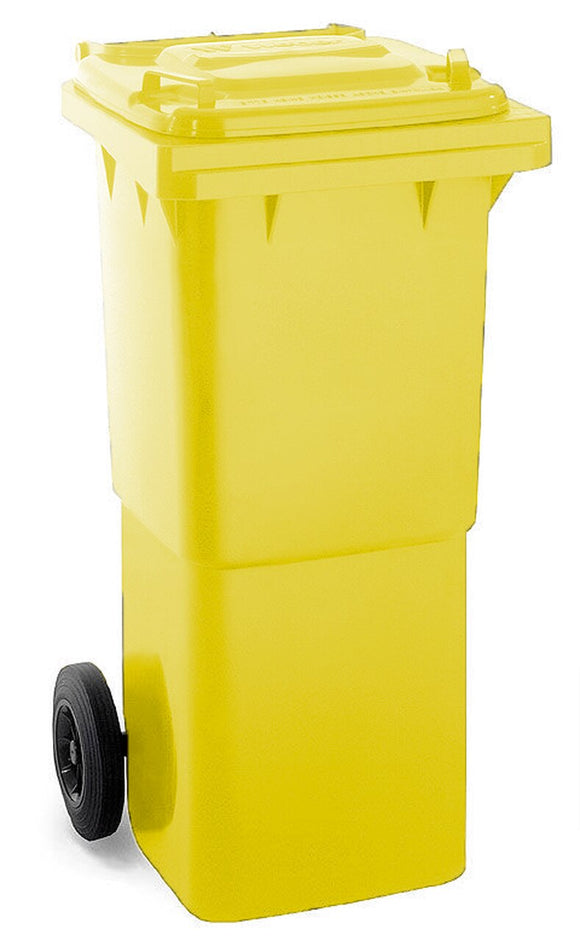Yellow 60 Litre Wheelie Bins