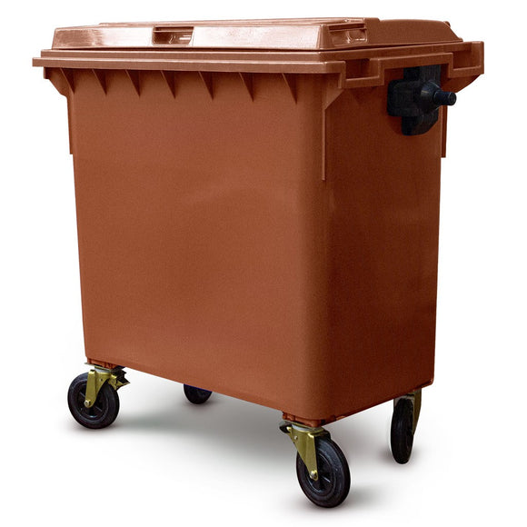 770 Litre Wheelie Bin In Brown