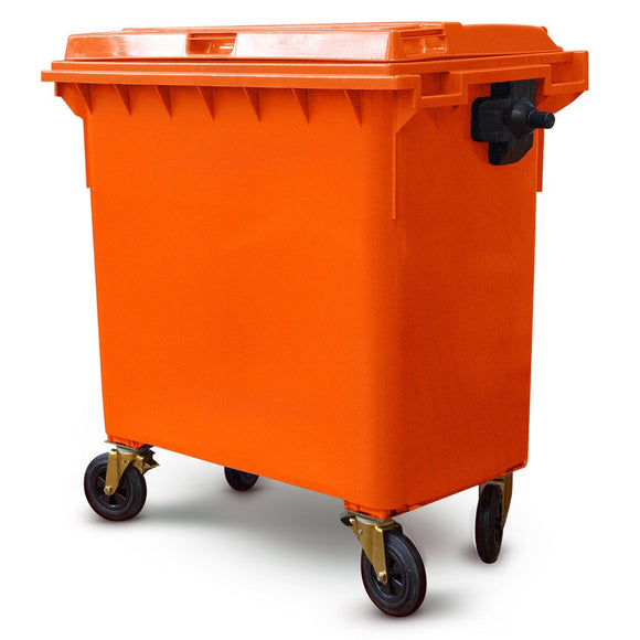 660 Litre Wheelie Bin In Orange
