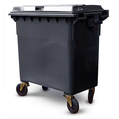 660 Litre Wheelie Bin In Black