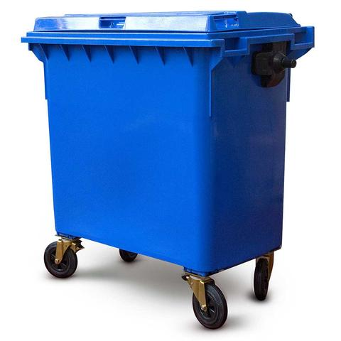 Blue 770 Litre Wheelie Bins