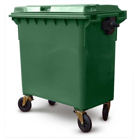 660 Litre Wheelie Bin In Green