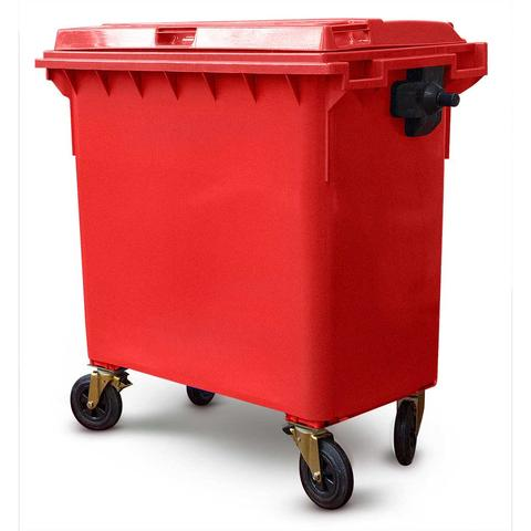 Red 770 Litre Wheelie Bins