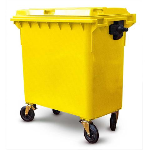 660 Litre Wheelie Bin In Yellow