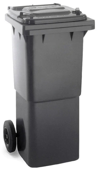 Black 80 Litre Wheelie Bins