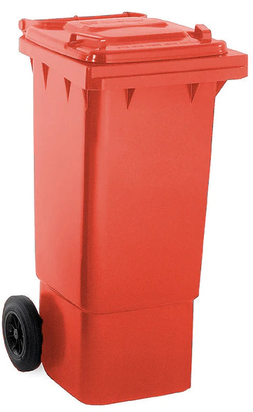 Red 80 Litre Wheelie Bins