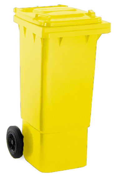 Yellow 80 Litre Wheelie Bins