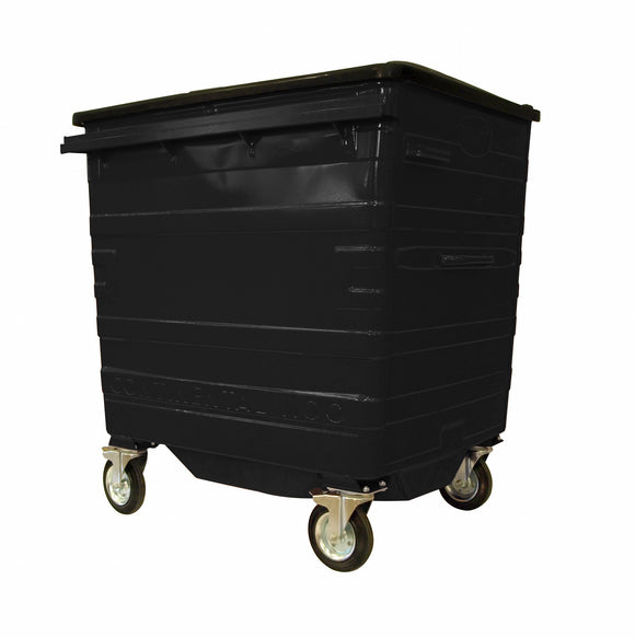 1100 Litre Black Metal Wheelie Bins