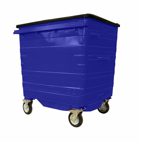 1100 Litre Blue Metal Wheelie Bins