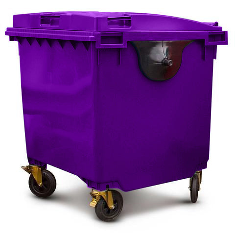 Purple 1100 Litre Wheelie Bin