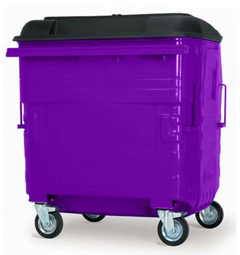 Purple 1280 Litre Wheelie Bin
